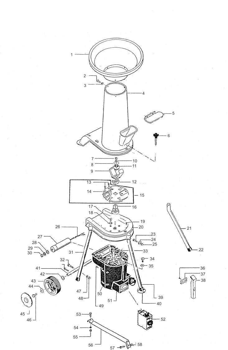 al-ko explosionszeichnung gartenhäcksler h 2200 art.nr.: 104617, 105791
