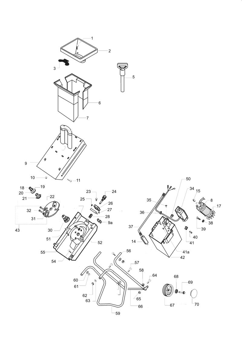 Explosionszeichnung AL-KO Häcksler Dynamic 1600
