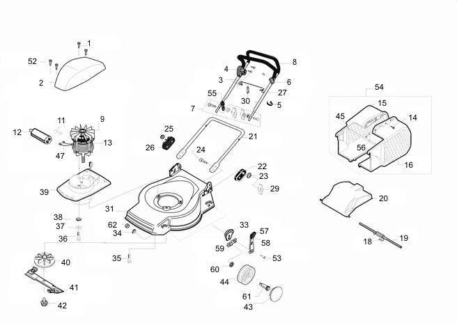 ersatzteile f r al ko 47 e de luxe art nr 118304 elektrorasenm her g nstig online kaufen. Black Bedroom Furniture Sets. Home Design Ideas