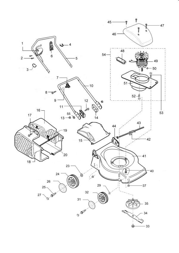 ersatzteile f r den al ko classic 40 e art nr 120595 elektrorasenm her g nstig online kaufen. Black Bedroom Furniture Sets. Home Design Ideas