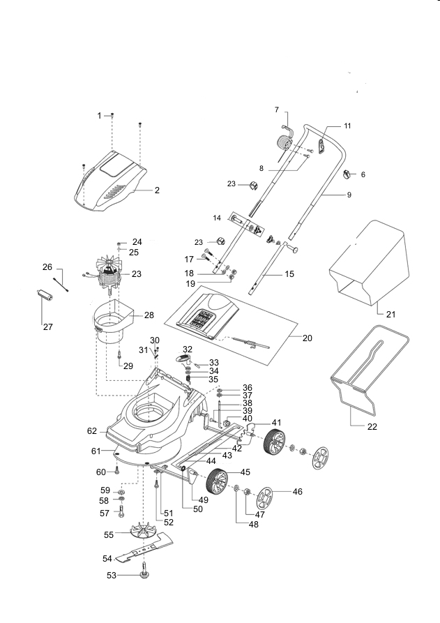 ersatzteile f r den al ko classic 42 e plus art nr 112359 elektrorasenm her g nstig online kaufen. Black Bedroom Furniture Sets. Home Design Ideas