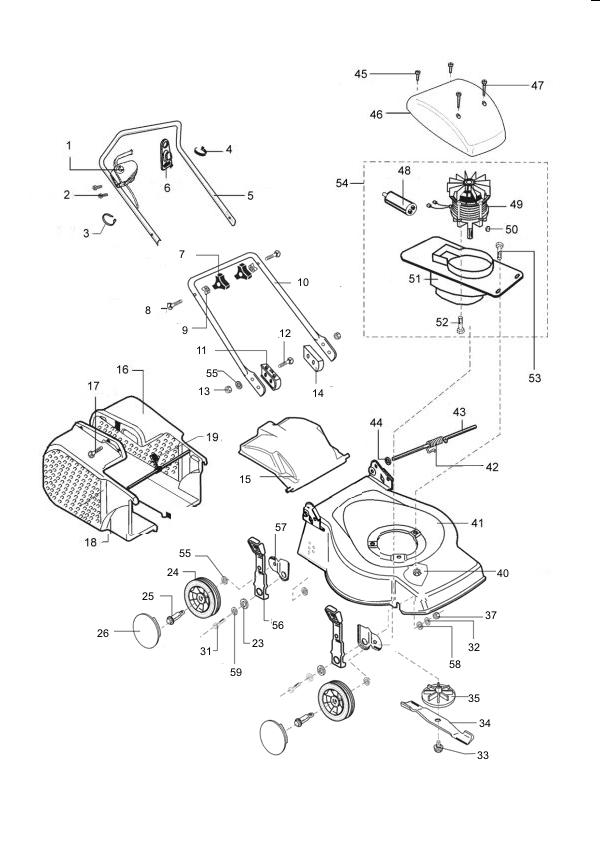 al ko classic 46 e art nr 120456 ersatzteile rastrillo. Black Bedroom Furniture Sets. Home Design Ideas