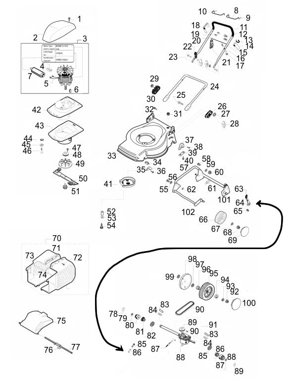 ersatzteile f r den al ko classic 46 er art nr 118157. Black Bedroom Furniture Sets. Home Design Ideas