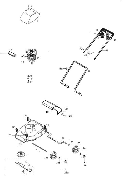 ersatzteile f r den al ko euro 600 art nr 117029. Black Bedroom Furniture Sets. Home Design Ideas