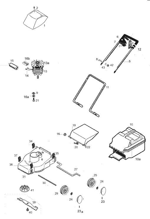 ersatzteile f r den al ko euro 800 art nr 117104 elektrorasenm her g nstig online kaufen. Black Bedroom Furniture Sets. Home Design Ideas