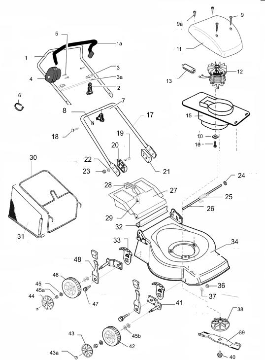 ersatzteile f r den al ko lts e 40 art nr 121500 elektrorasenm her al ko ersatzteile g nstig. Black Bedroom Furniture Sets. Home Design Ideas