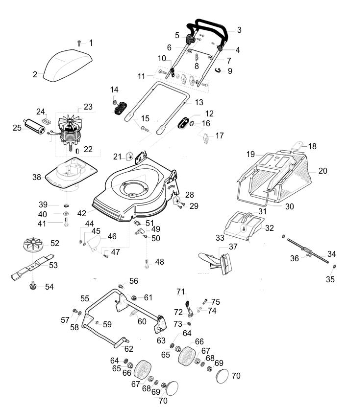 ersatzteile f r al ko austria 47 e art nr 118528 elektrorasenm her g nstig online kaufen. Black Bedroom Furniture Sets. Home Design Ideas