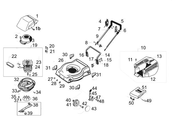 ersatzteile f r den al ko rasaero 480 e art nr 110553u elektrorasenm her al ko ersatzteile. Black Bedroom Furniture Sets. Home Design Ideas