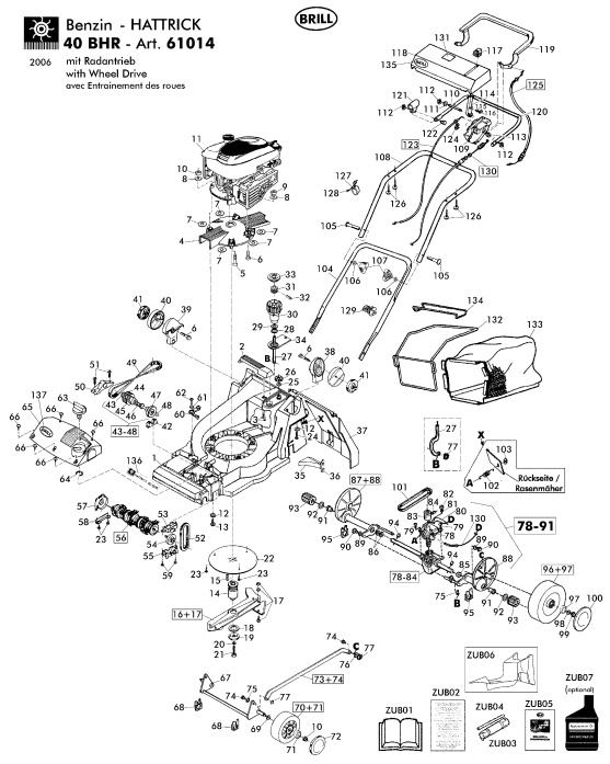 ersatzteile f r brill 40 bhr art 61014 gartenartikel g nstig online kaufen. Black Bedroom Furniture Sets. Home Design Ideas
