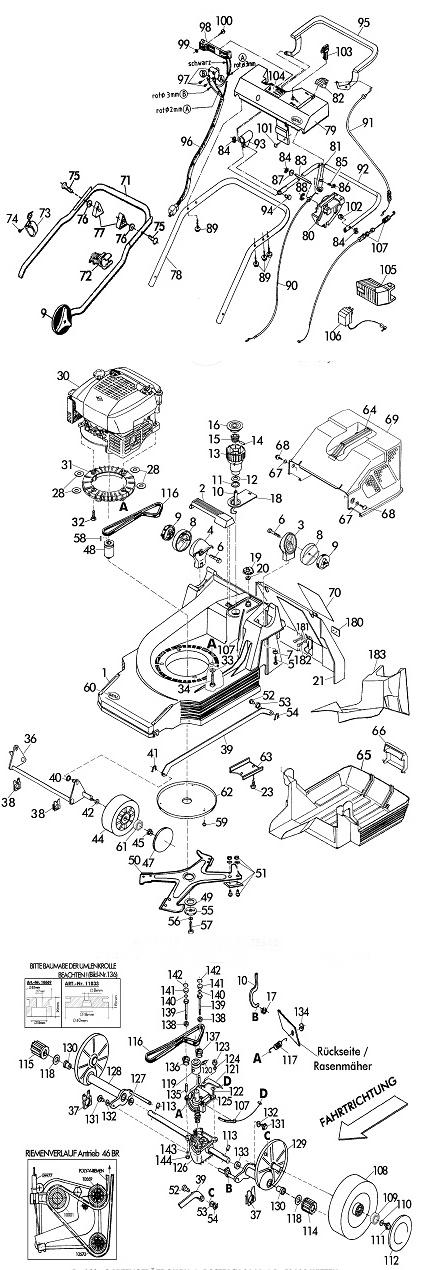 ersatzteile f r brill 46 br v12 mulchcut gartenartikel g nstig. Black Bedroom Furniture Sets. Home Design Ideas