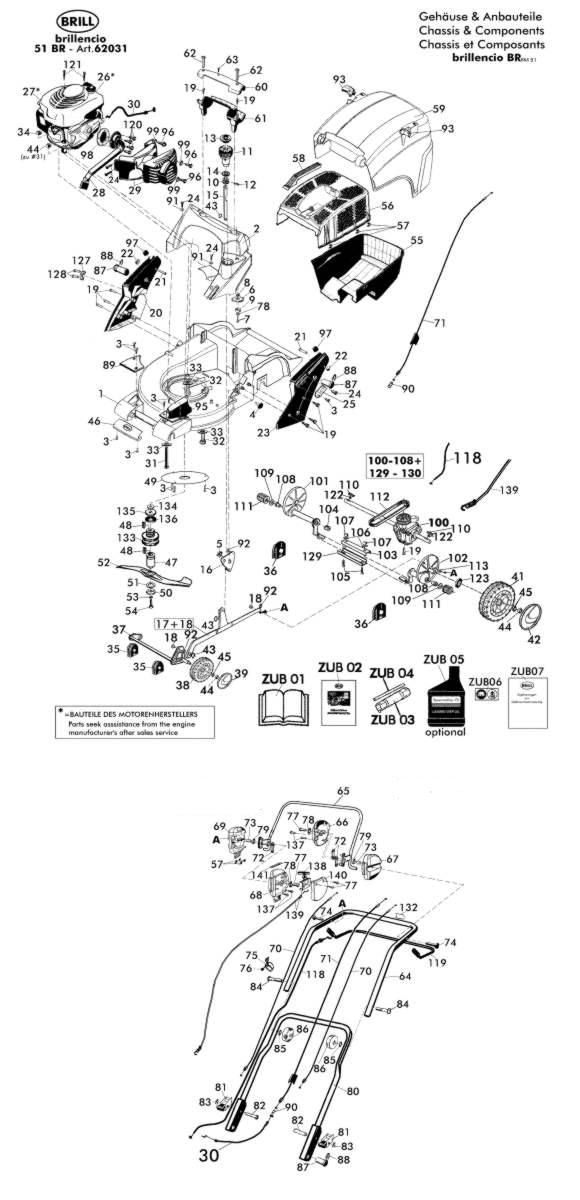 ersatzteile f r brill brillencio 51 br 62031 gartenartikel g nstig online kaufen. Black Bedroom Furniture Sets. Home Design Ideas